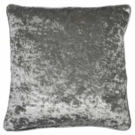 Plush scatter cushion in grey