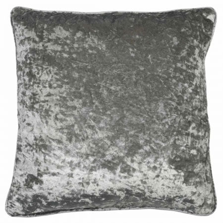 Grey plush cushion