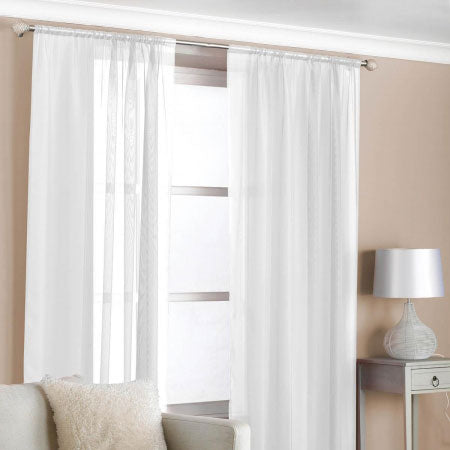 White voile curtains at a window
