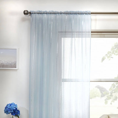 Summer Blues Inspiration - light blue voile panels at a window