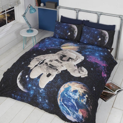 Astronaut floating in space bedding