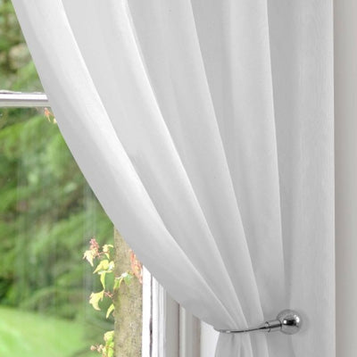 White Voile Curtain Tiedback
