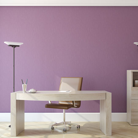 Light Purple Office, With Office Desk And Chair