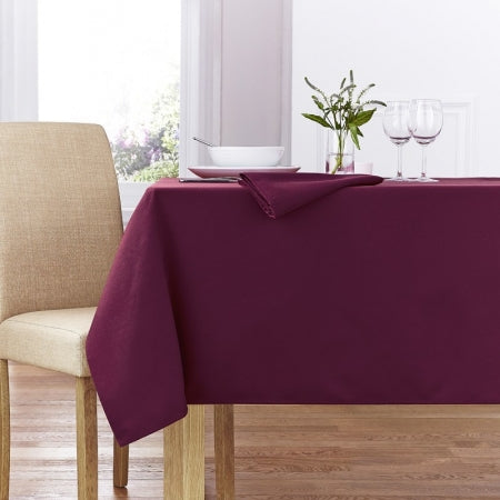 Damson Table Cloth In A White Dining Room
