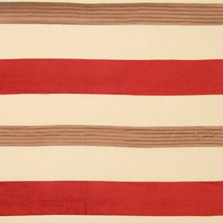 Striped fabric in cream, beige and red