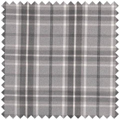 Grey and light grey checked fabric