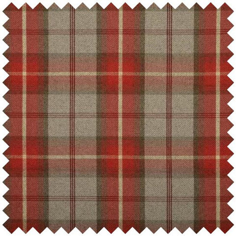 Balmoral Curtain Fabric Cherry