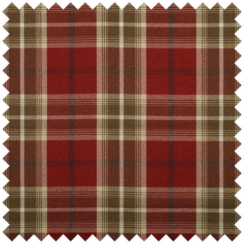 Red and brown checked fabric