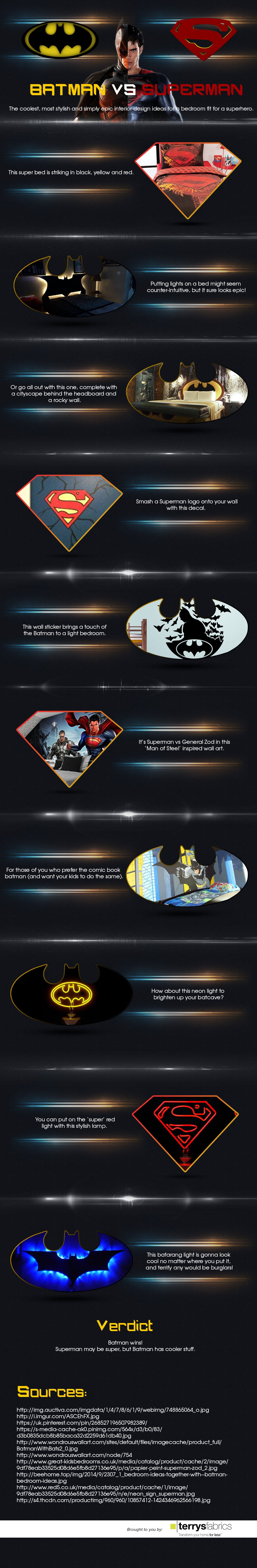 Batman vs Superman Infographic