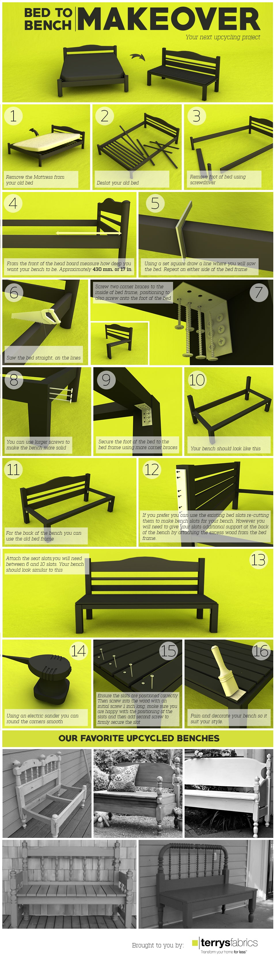 Bed To Bench Infographic