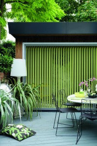 Bella Kiwi green vertical blinds