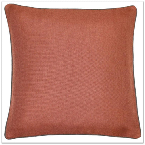 Clay toned red cushion