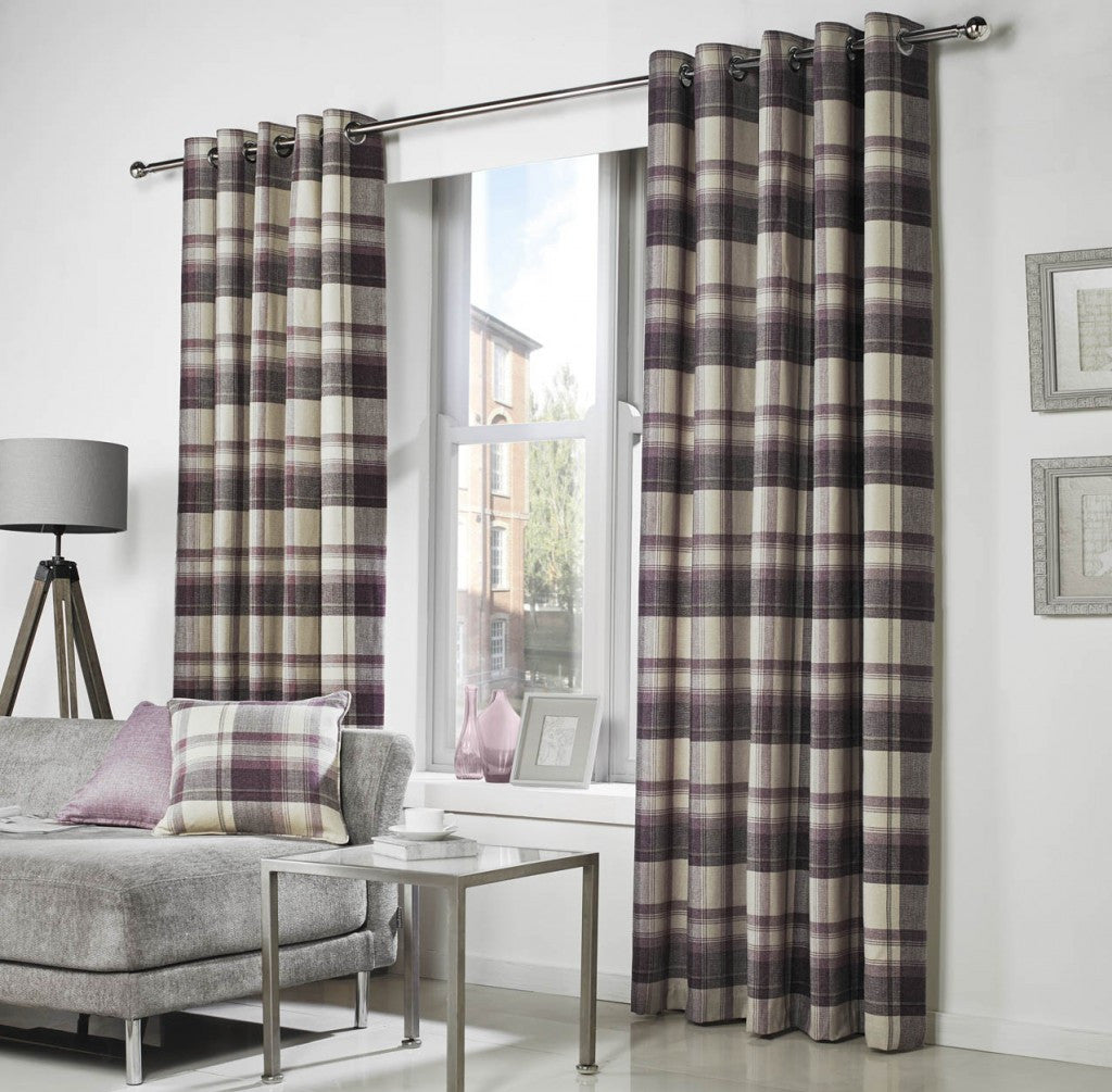Eyelet Curtains: Belvedere - Plum