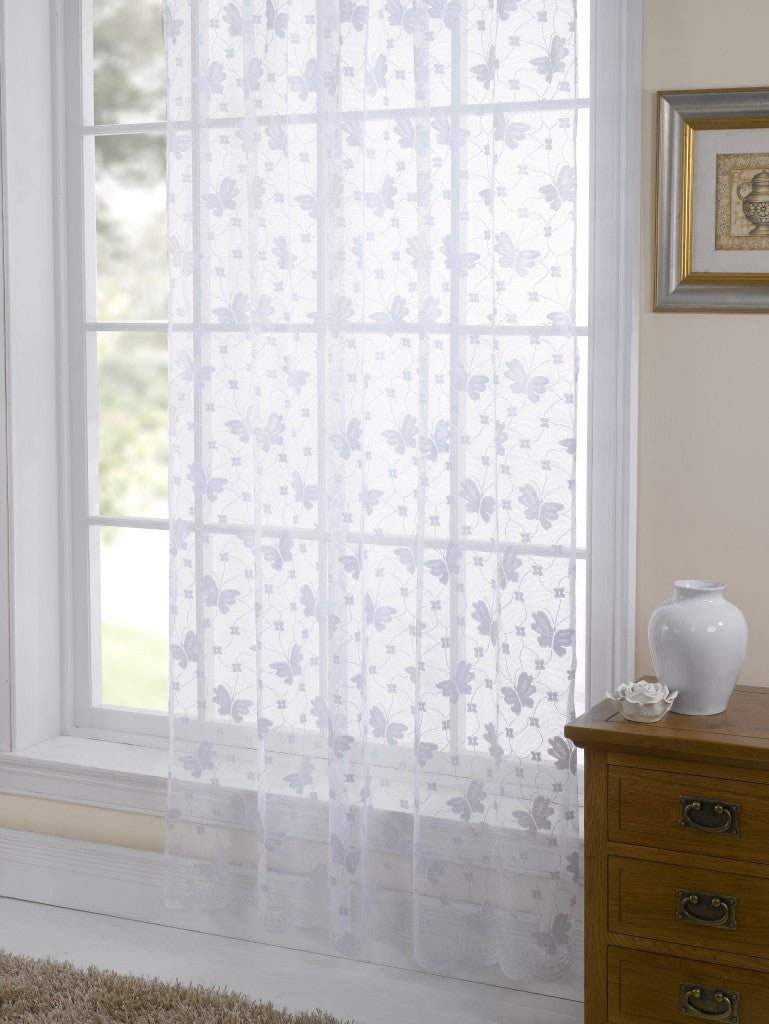 Butterfly design on White Voile panel