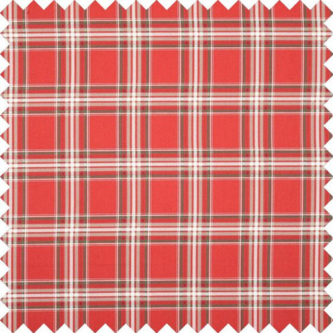 Christmas Tartan Curtain Fabric - Red