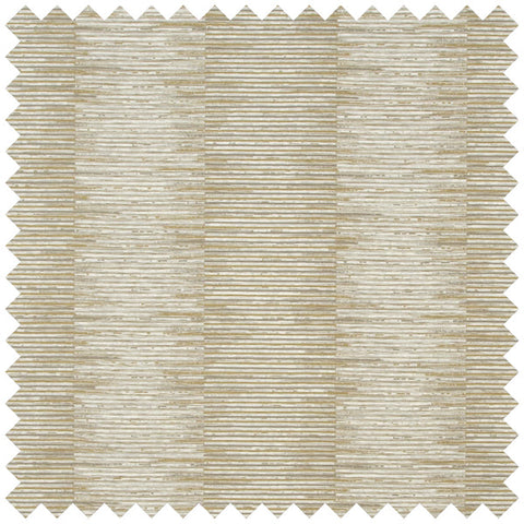Gold and cream fabric swatch with a jagged line on top of line pattern