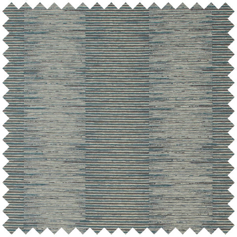 Teal and grey stacked line fabric swatch