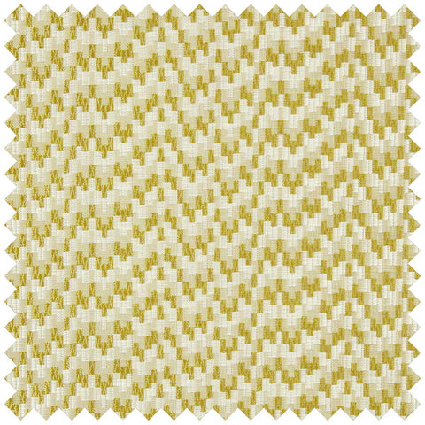 Gold and cream wavy fabric swatch