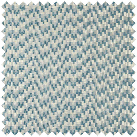 Wave like teal and cream fabric swatch