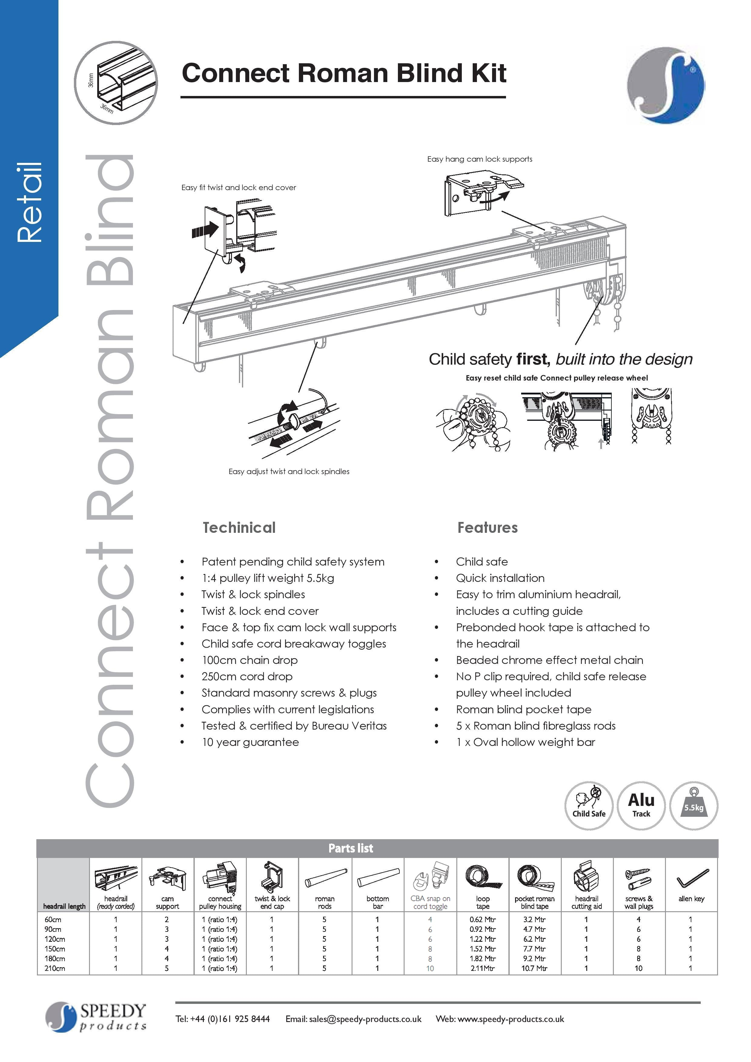 Connect roman blind fitting instructions one