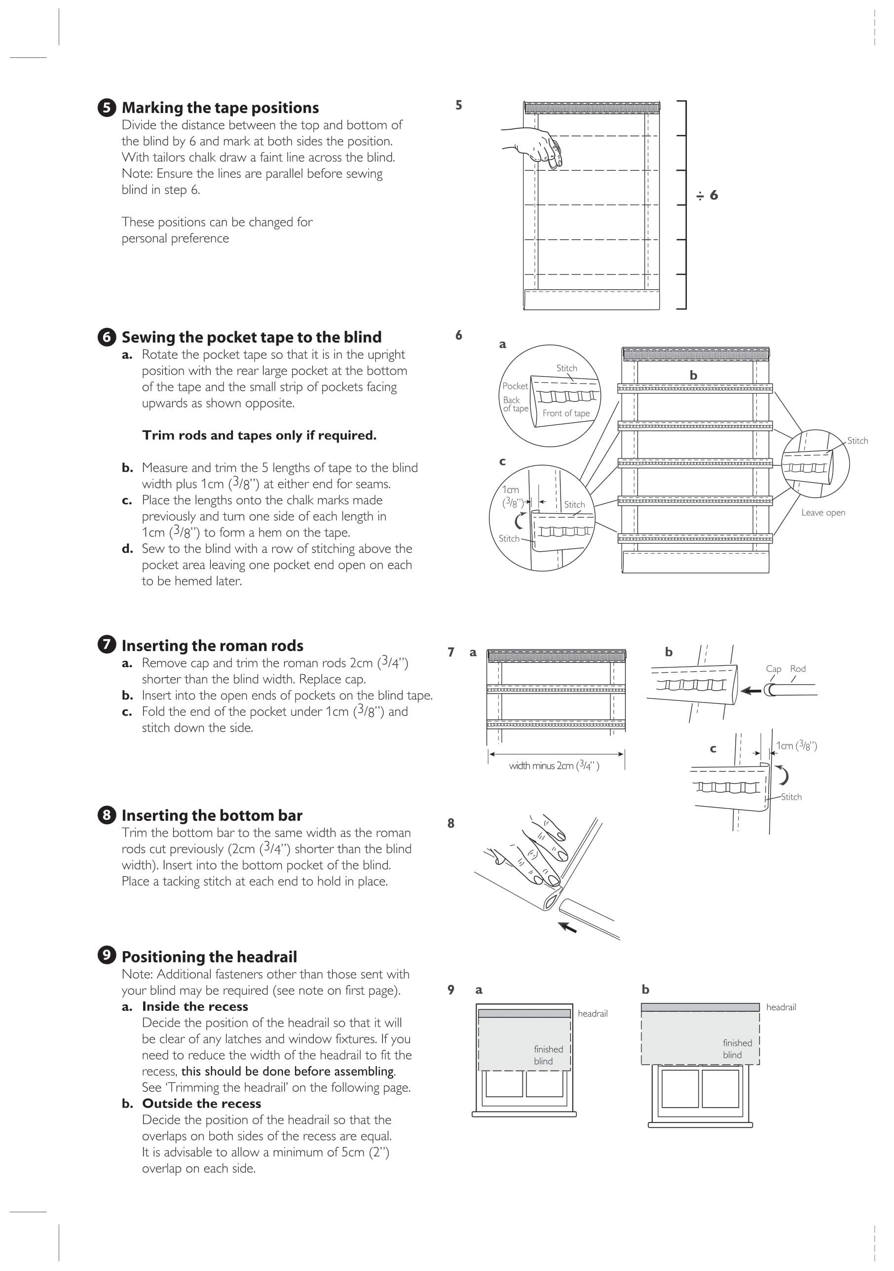 Connect roman blind fitting instructions two