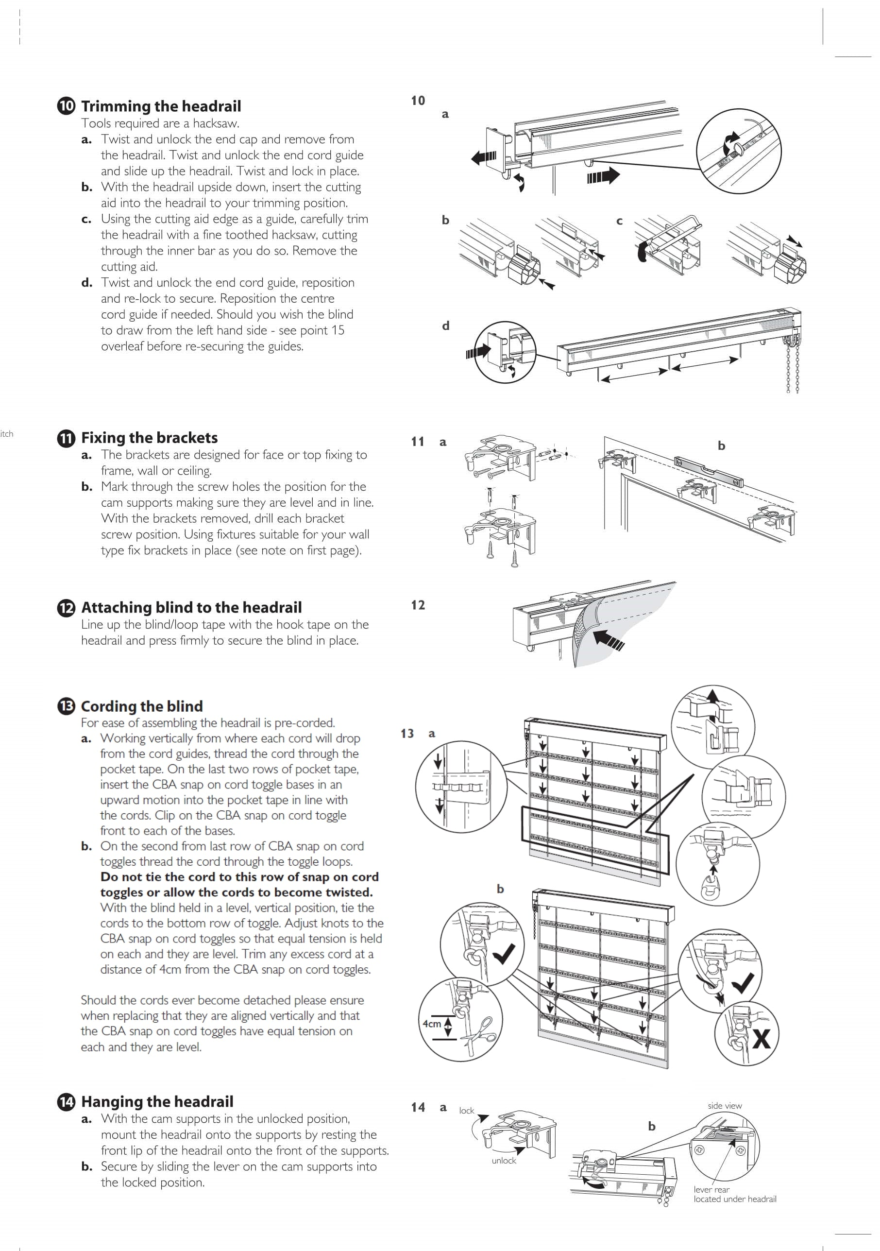 Connect roman blind fitting instructions three