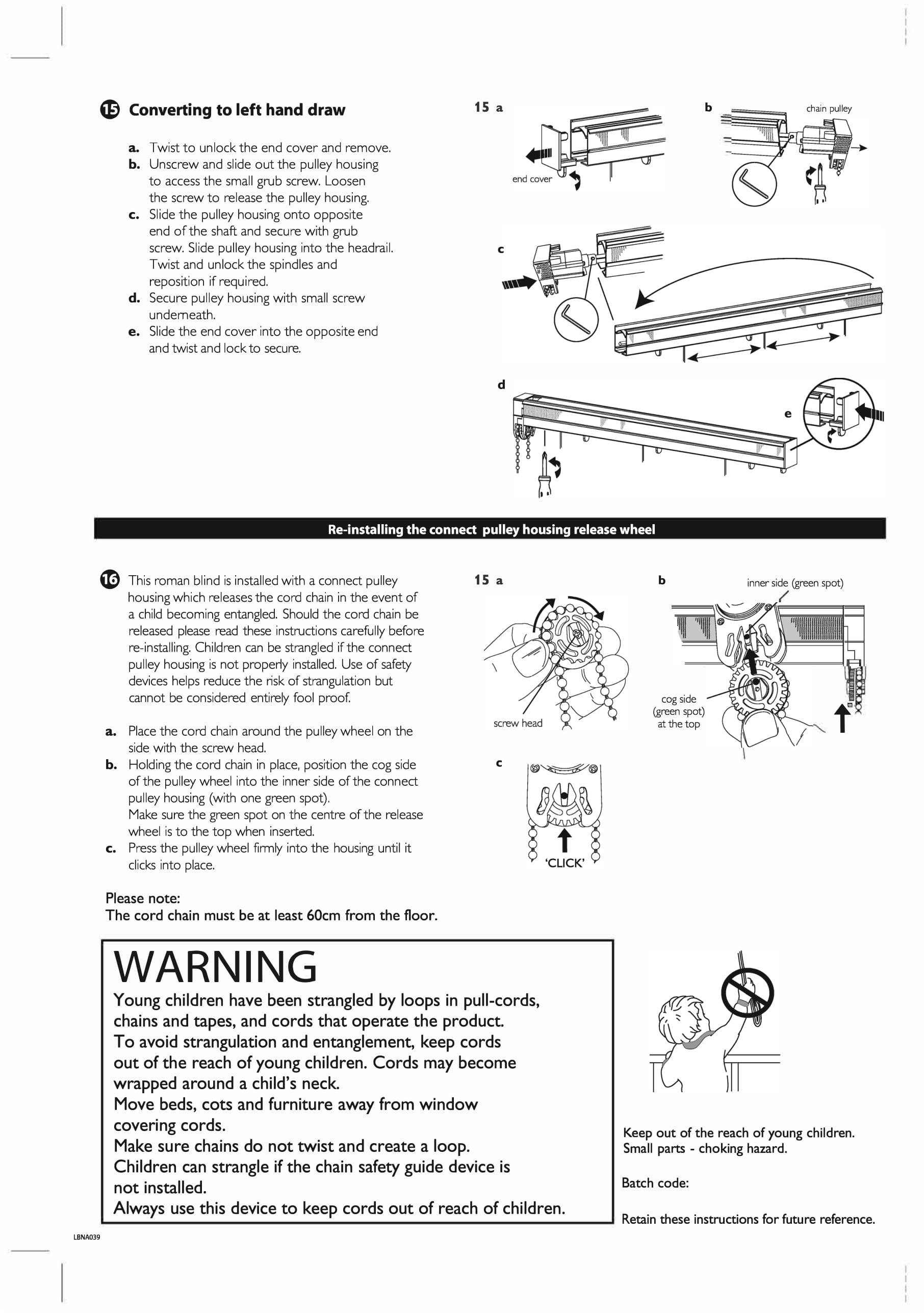 Connect roman blind fitting instructions four