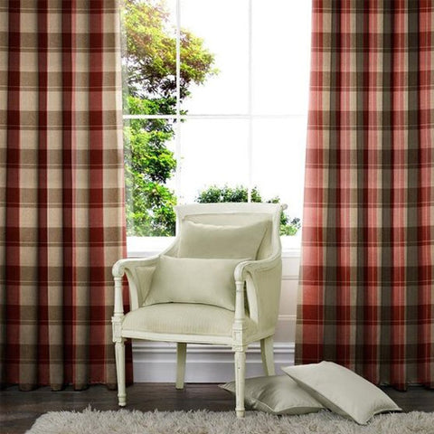 Croft Made to Measure Curtains Cranberry