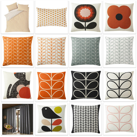 Grid collage of different floral cushion designs