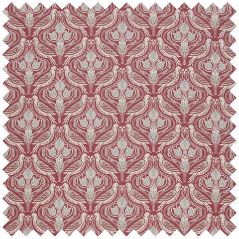 Dawn Chorus Curtain Fabric - Ruby