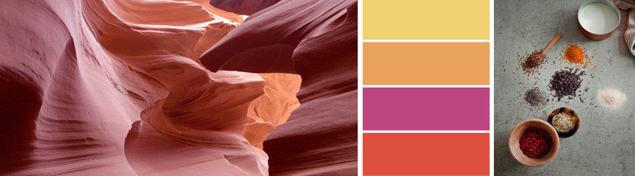 Earth Tone Colours, Textures and Landscapes
