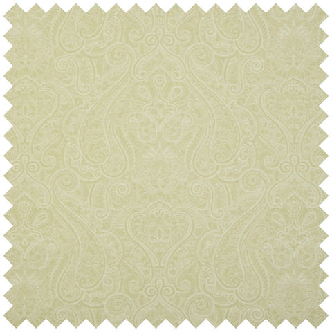 Gold swatch of fabric with faint swirling ornate pattern
