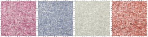 Collage of four different fabrics in different pastel shades