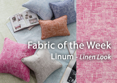 Header image - Linum Linen-Look Cotton Print Friday's Fabulous Fabric