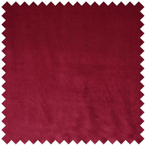 Glamour Velvet Curtain Fabric - Cranberry