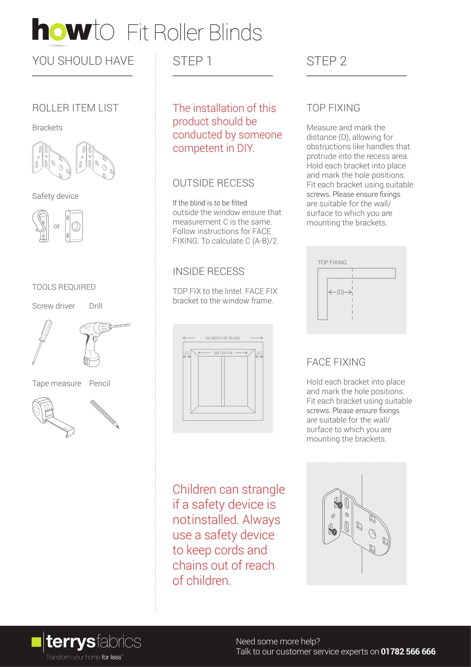 Roller Blind Fitting Instructions Two