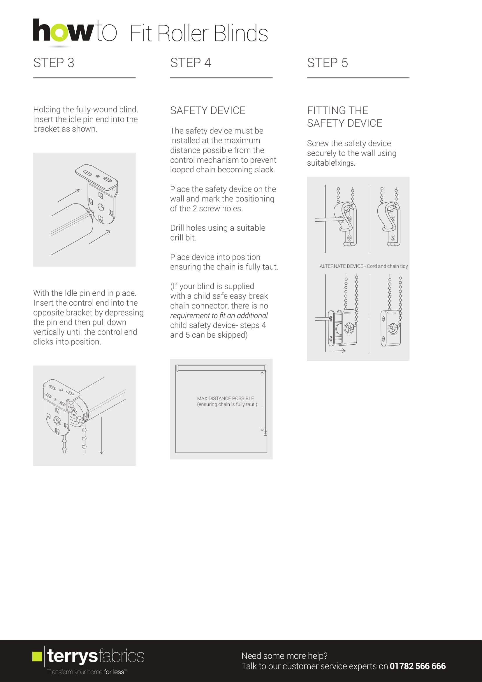 Roller Blind Fitting Instructions Three
