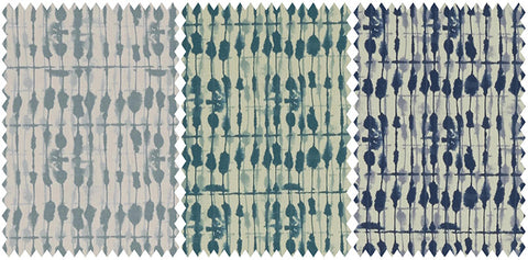 Three different fabrics mottled pattern in three different colours