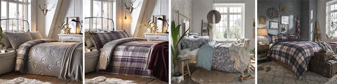 Collage of four different bed styles