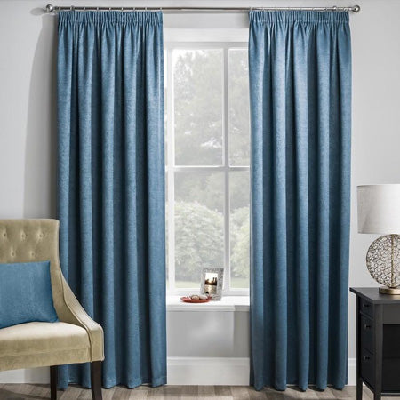 Matrix Ready Made Pencil Pleat Curtains - Teal
