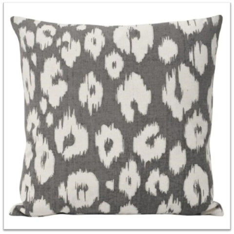 Grey and white funky white cushion