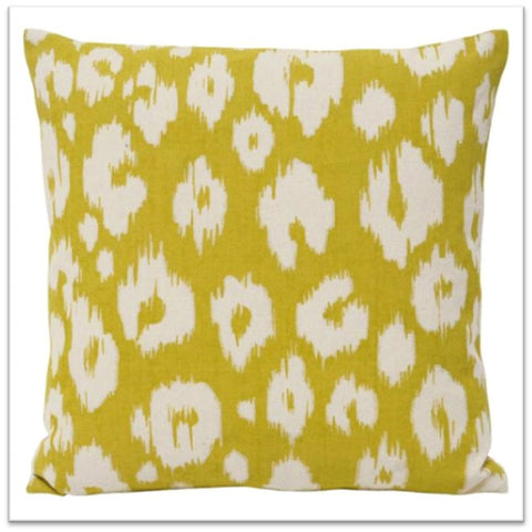 Yellow and white funky white cushion