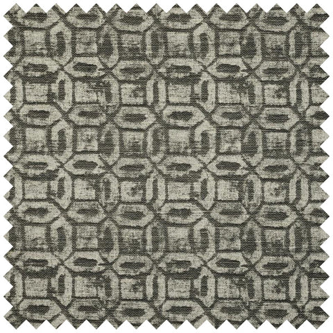 Onyx Curtain Fabric - Charcoal