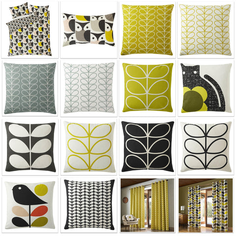 Collage of 16 different Orla Kiely products