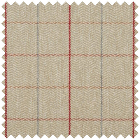 Beige and ered pin striped fabric