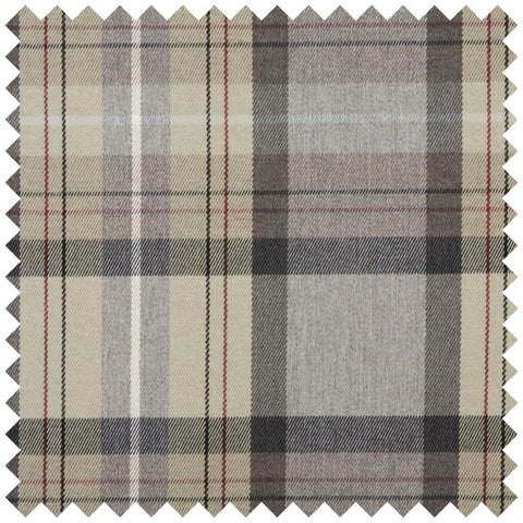 Grey and beige checked fabric