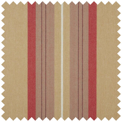 Red and gold striped fabric