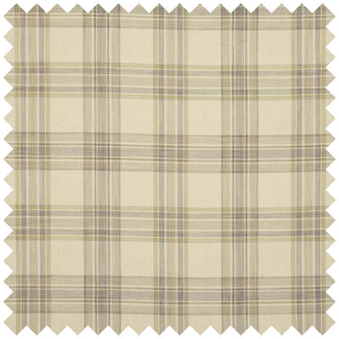 Beige fabric with a traditional checked pattern