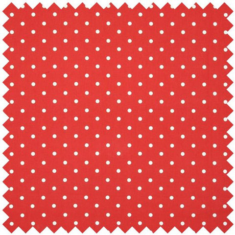 Polka Dot Large Curtain Fabric - Red