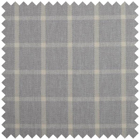Grey checked fabric